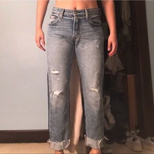 Levi's 501 Original Straight Distressed Jeans